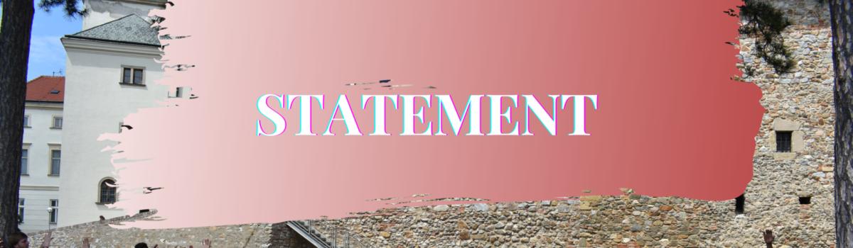 Statement – Diaspora Programme